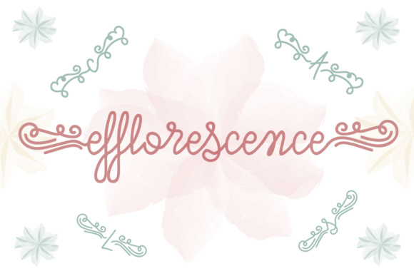 Print on Demand: Efflorescence Script & Handwritten Font By Lickable Pixels
