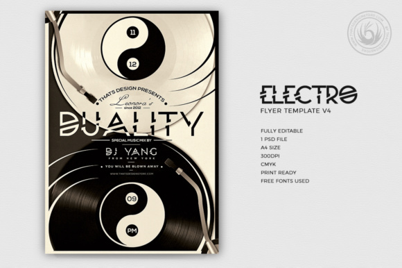 Electro Flyer Template V4 Graphic Print Templates By ThatsDesignStore