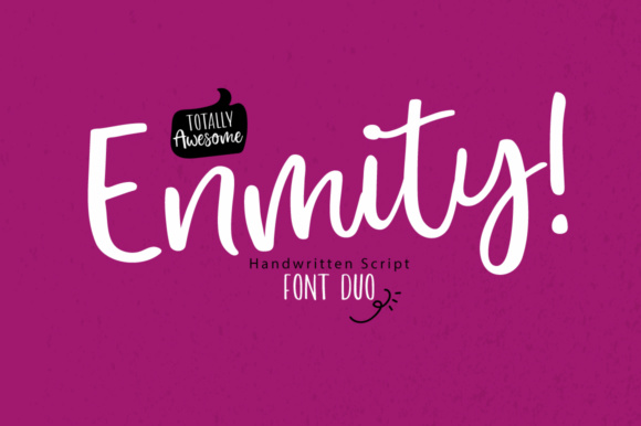 Print on Demand: Enmity! Script & Handwritten Font By PaulaType