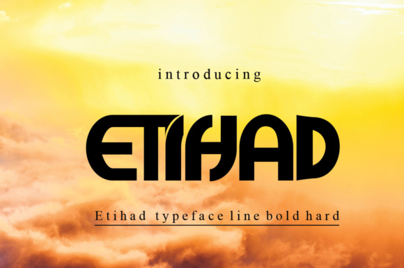 Print on Demand: Etihad Display Schriftarten von jehansyah251