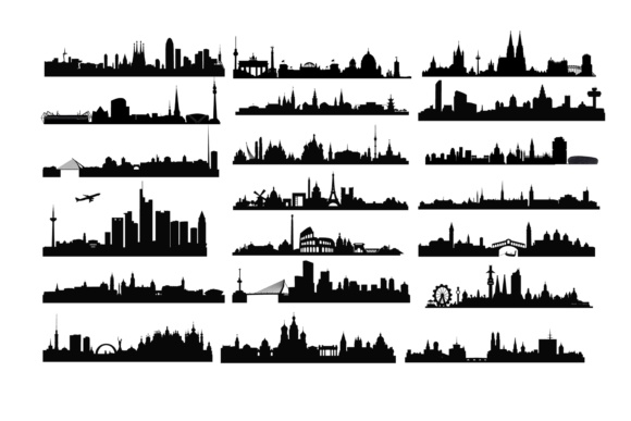 Download Free Europe City Skyline Graphic By Retrowalldecor Creative Fabrica SVG Cut Files