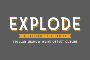 Print on Demand: Explode Family Sans Serif Font By AMTYPES