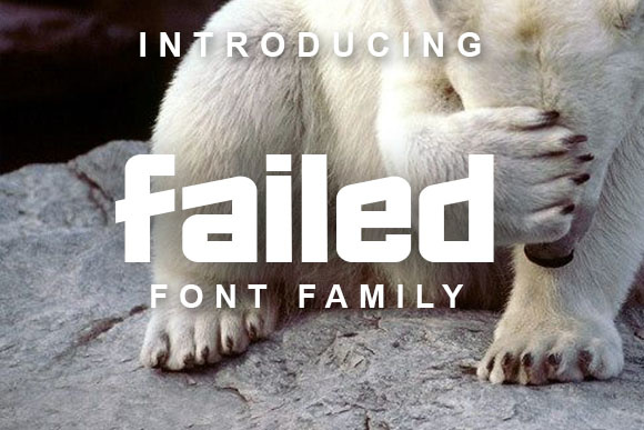 Print on Demand: Failed Display Font By vladimirnikolic