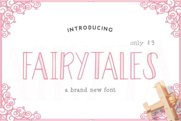 Print on Demand: Fairytales Display Font By Salt & Pepper Designs - Image 1