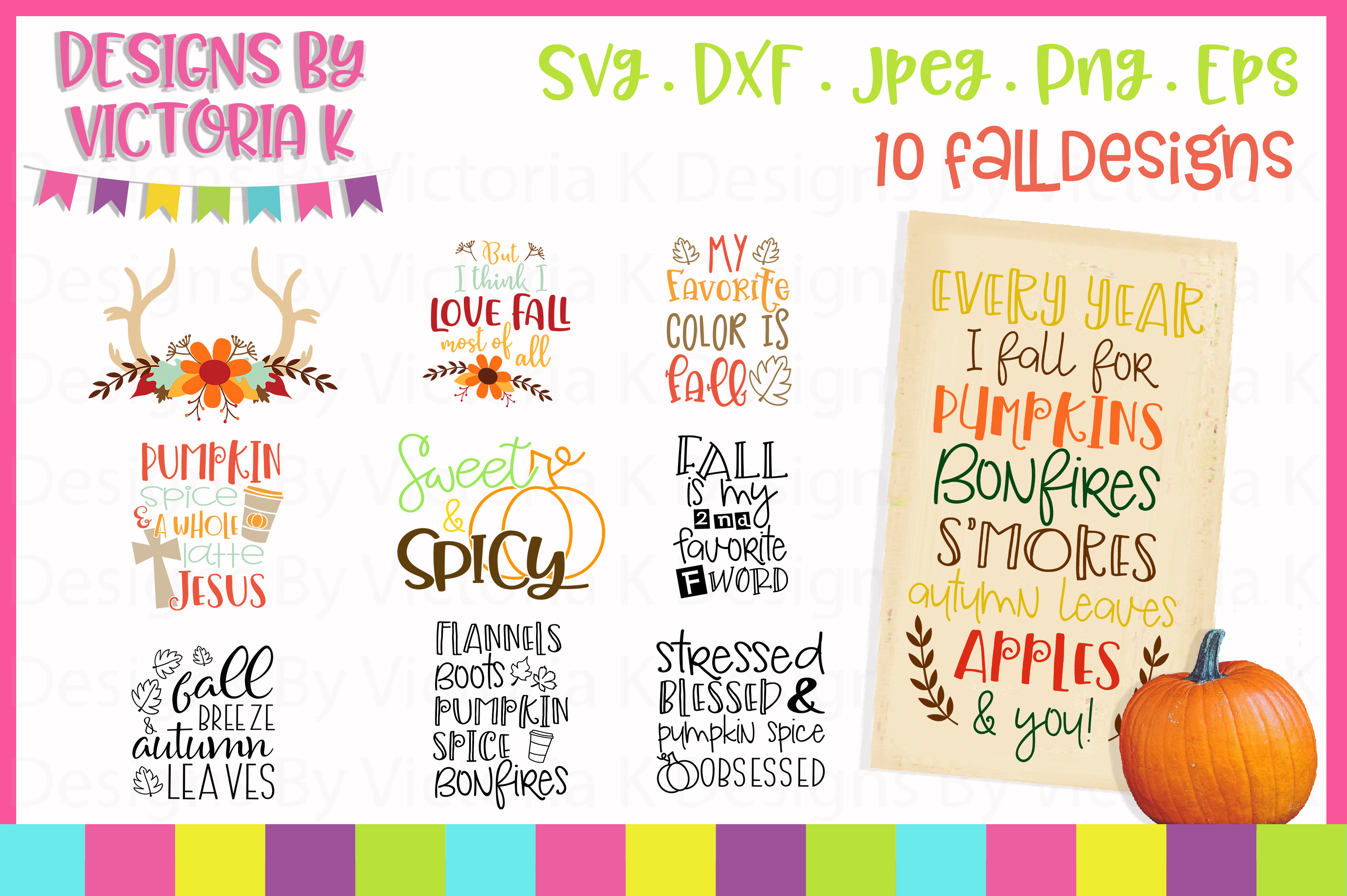 Download Free Fall Bundle Graphic By Designs By Victoria K Creative Fabrica SVG Cut Files