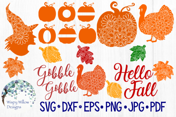 Fall Bundle Graphic Crafts By WispyWillowDesigns