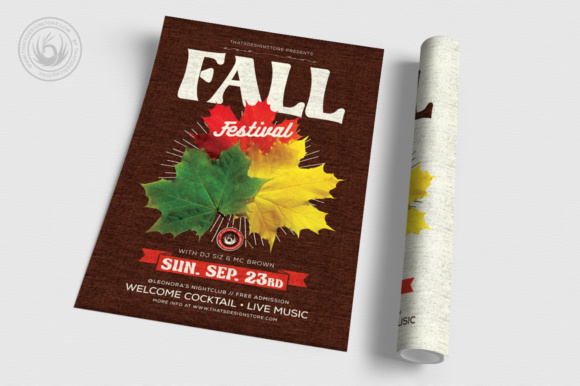 fall festival flyer template graphic by thatsdesignstore creative