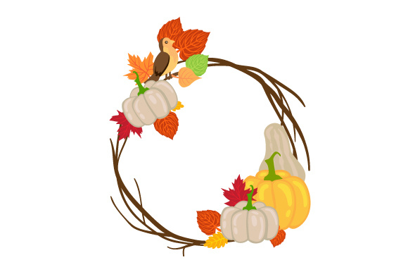 Fall Wreath Fall Craft Cut File By Creative Fabrica Crafts - Image 1