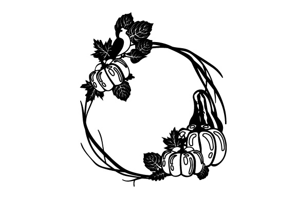 Download Free Fall Wreath Svg Cut File By Creative Fabrica Crafts Creative for Cricut Explore, Silhouette and other cutting machines.