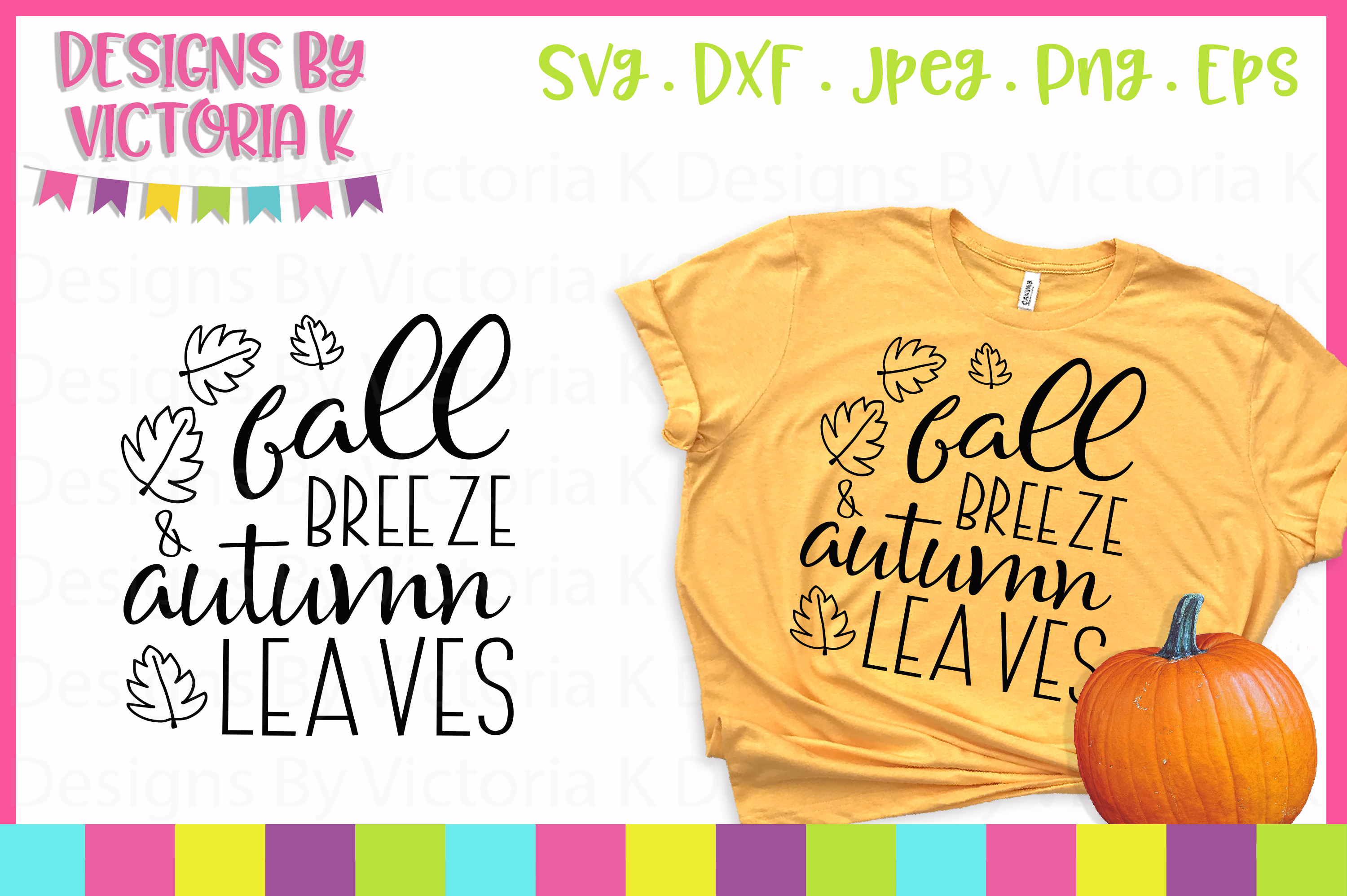 Download Free Fall Breeze Autum Leaves Svg Graphic By Designs By Victoria K for Cricut Explore, Silhouette and other cutting machines.