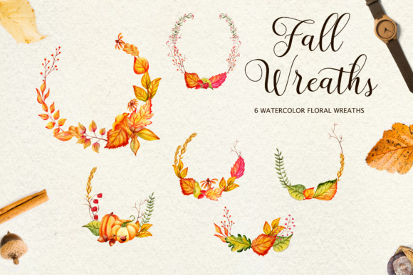 Fall in Love - Watercolor Clipart Graphic Illustrations By tregubova.jul - Image 11