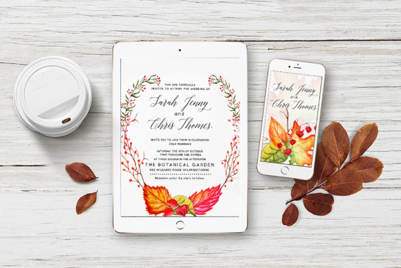 Fall in Love - Watercolor Clipart Graphic Illustrations By tregubova.jul - Image 3