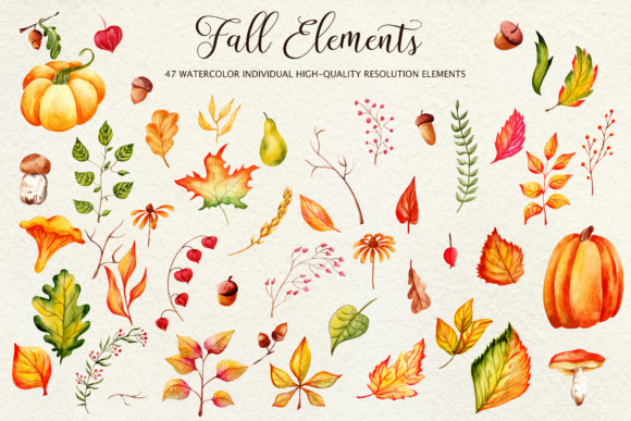 Fall in Love - Watercolor Clipart Graphic Illustrations By tregubova.jul - Image 7