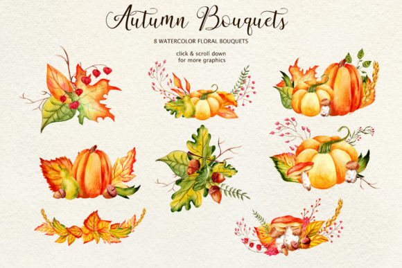 Fall in Love - Watercolor Clipart Graphic Illustrations By tregubova.jul - Image 8