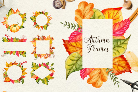 Fall in Love - Watercolor Clipart Graphic Illustrations By tregubova.jul - Image 9