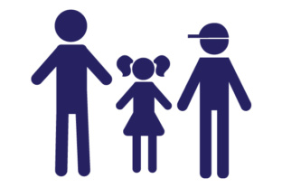 Family Car Decal Dad, 1 Daughter and 1 Son Craft Design By Creative Fabrica Crafts