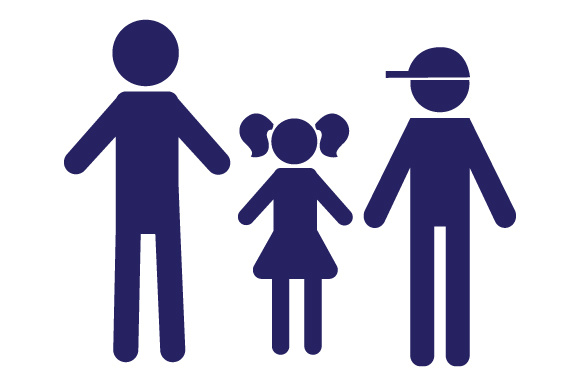 Family Car Decal Dad, 1 Daughter and 1 Son Stick Figures Craft Cut File By Creative Fabrica Crafts