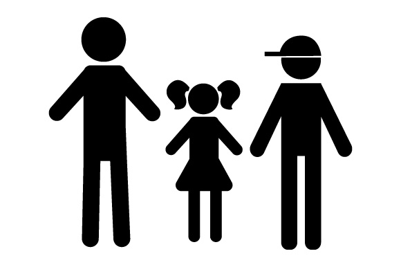 Download Free Family Car Decal Dad 1 Daughter And 1 Son Svg Cut File By Creative Fabrica Crafts Creative Fabrica for Cricut Explore, Silhouette and other cutting machines.