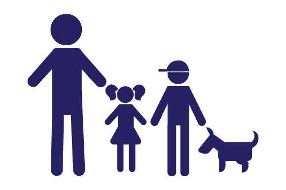 Family Car Decal Dad, 1 Daughter and 1 Son with Dog Stick Figures Craft Cut File By Creative Fabrica Crafts
