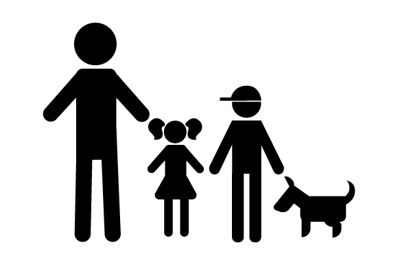 Family Car Decal Dad, 1 Daughter and 1 Son with Dog Stick Figures Craft Cut File By Creative Fabrica Crafts - Image 2