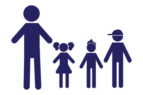 Family Car Decal Dad, 1 Daughter and 2 Sons Stick Figures Craft Cut File By Creative Fabrica Crafts - Image 1