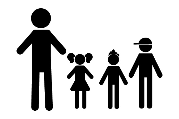 Family Car Decal Dad, 1 Daughter and 2 Sons Stick Figures Craft Cut File By Creative Fabrica Crafts - Image 2