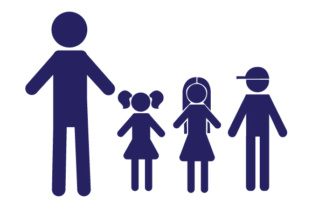 Family Car Decal Dad, 2 Daughters and 1 Son Stick Figures Craft Cut File By Creative Fabrica Crafts