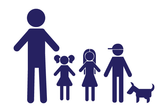 Family Car Decal Dad, 2 Daughters and 1 Son with Dog Stick Figures Craft Cut File By Creative Fabrica Crafts