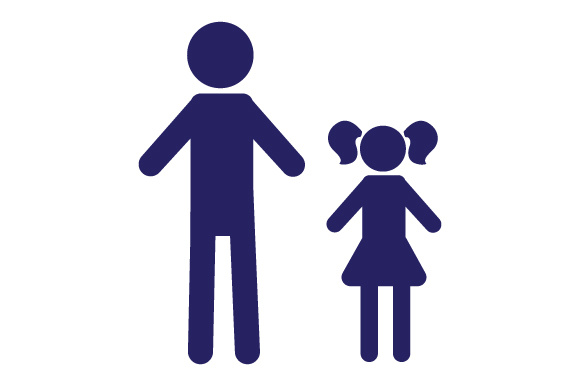 Family Car Decal Dad and 1 Daughter Stick Figures Craft Cut File By Creative Fabrica Crafts
