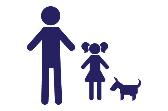 Family Car Decal Dad and 1 Daughter with Dog Stick Figures Craft Cut File By Creative Fabrica Crafts