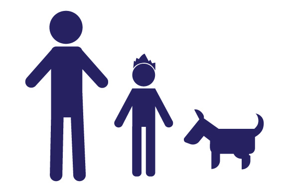 Family Car Decal Dad and 1 Son with Dog Stick Figures Craft Cut File By Creative Fabrica Crafts