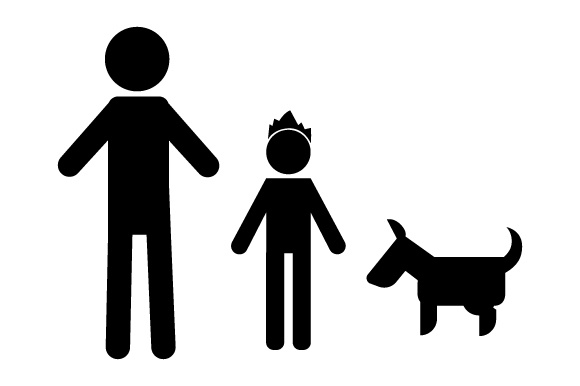 Family Car Decal Dad and 1 Son with Dog Stick Figures Craft Cut File By Creative Fabrica Crafts - Image 2