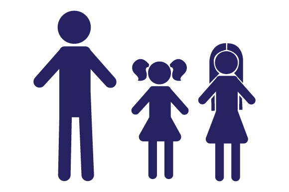 Family Car Decal Dad and 2 Daughters Stick Figures Craft Cut File By Creative Fabrica Crafts