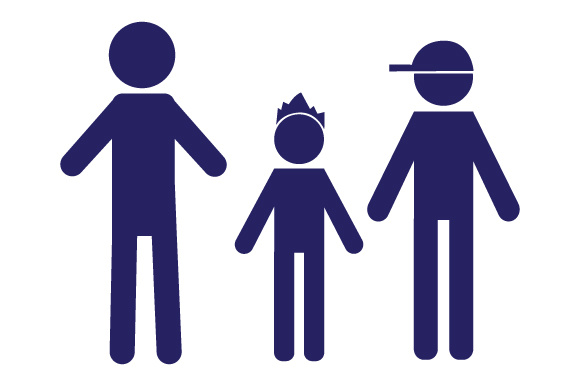 Family Car Decal Dad and 2 Sons Stick Figures Craft Cut File By Creative Fabrica Crafts