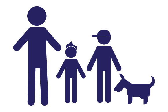 Family Car Decal Dad and 2 Sons with Dog Stick Figures Craft Cut File By Creative Fabrica Crafts