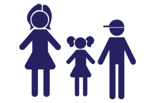 Family Car Decal Mom, 1 Daughter and 1 Son Stick Figures Craft Cut File By Creative Fabrica Crafts