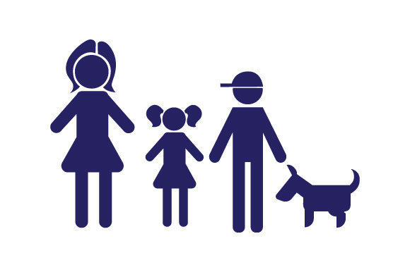 Family Car Decal Mom, 1 Daughter and 1 Son with Dog Stick Figures Craft Cut File By Creative Fabrica Crafts