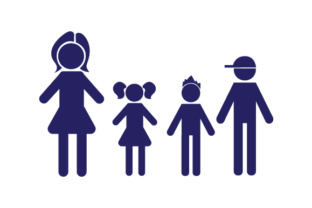 Family Car Decal Mom, 1 Daughter and 2 Sons Stick Figures Craft Cut File By Creative Fabrica Crafts