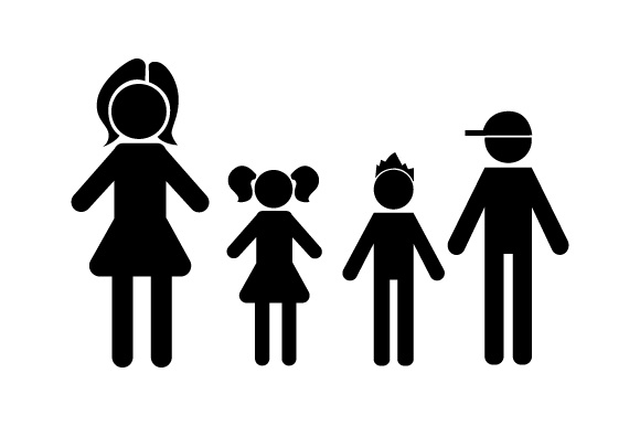 Download Free Family Car Decal Mom 1 Daughter And 2 Sons Svg Cut File By for Cricut Explore, Silhouette and other cutting machines.