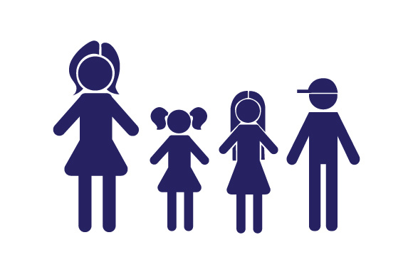 Family Car Decal Mom, 2 Daughters and 1 Son Stick Figures Craft Cut File By Creative Fabrica Crafts