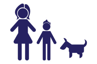 Family Car Decal Mom and 1 Son with Dog Stick Figures Craft Cut File By Creative Fabrica Crafts