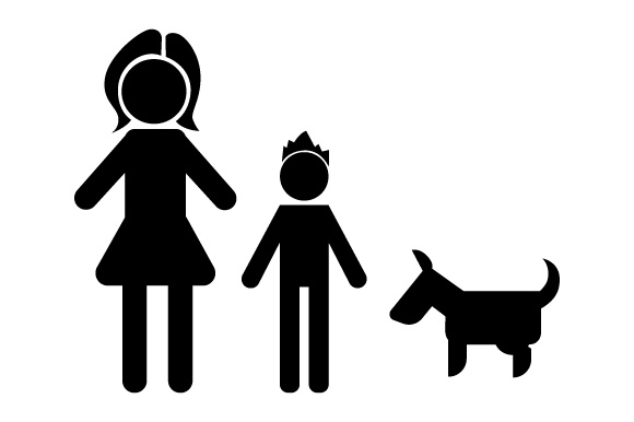 Family Car Decal Mom and 1 Son with Dog Stick Figures Craft Cut File By Creative Fabrica Crafts - Image 2
