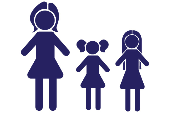 Family Car Decal Mom and 2 Daughters Stick Figures Craft Cut File By Creative Fabrica Crafts