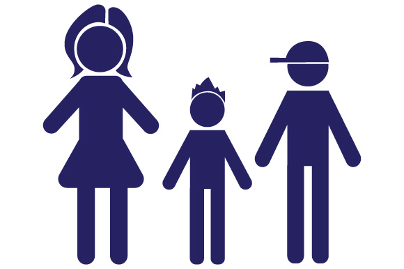 Family Car Decal Mom and 2 Sons Stick Figures Craft Cut File By Creative Fabrica Crafts - Image 1