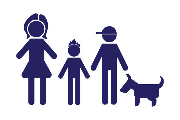 Family Car Decal Mom and 2 Sons with Dog Stick Figures Craft Cut File By Creative Fabrica Crafts