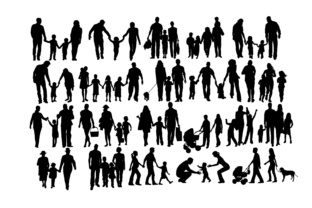 Family Silhouette Graphic By twelvepapers