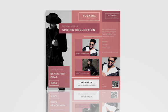 Fashion Flyer Catalogue Graphic Print Templates By TMint