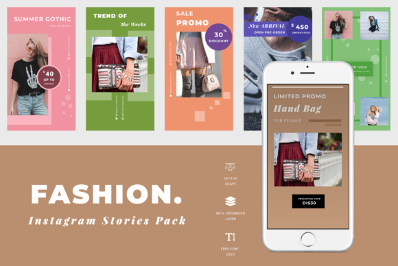 Fashion Instagram Story Graphic Websites By TMint