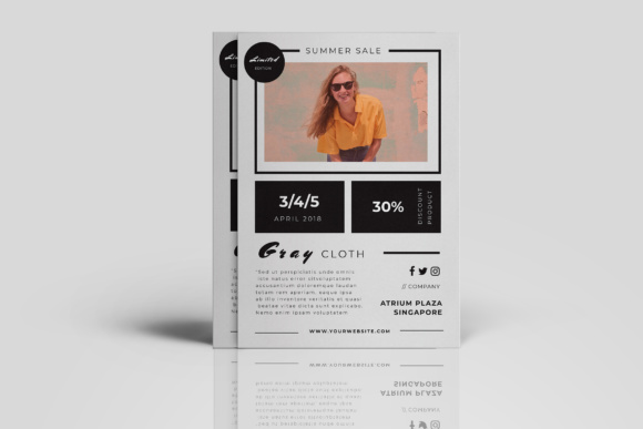 Fashion Promotion Flyer Graphic Print Templates By TMint