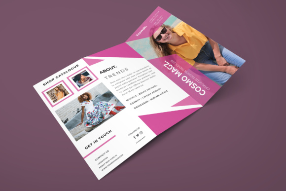 Fashion Trifold Brochure Graphic Print Templates By TMint